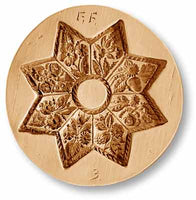1039 Flower Star Springerle Emporium Cookie Mold