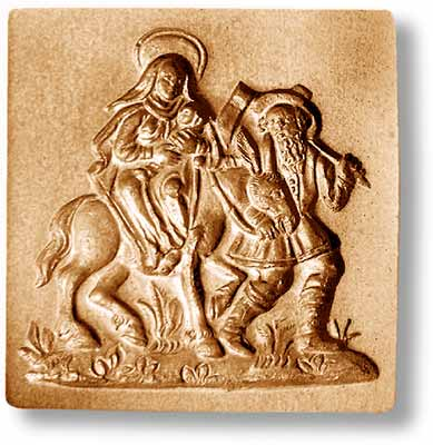 Flight Into Egypt Circa 1700 Springerle Emporium Cookie Mold