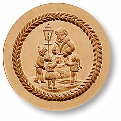 1097 Santa Giving Presents to Children Springerle Emporium Cookie Mold