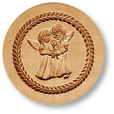1158 Two Angels Holding Candle Springerle Emporium Cookie Mold Anis Paradies