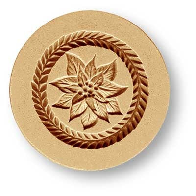 Pointsettia Christmas (Star) Flower Springerle Cookie Mold
