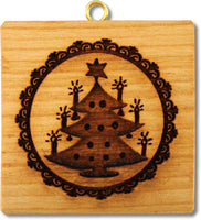 Small Christmas Tree Springerle Emporium Cookie Mold Art Delikat