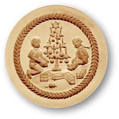1213 Children with Presents Springerle Cookie Mold Emporium Anis Paradies