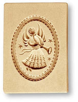 1254 trumpet angel in oval springerle emporium cookie mold anis paradies