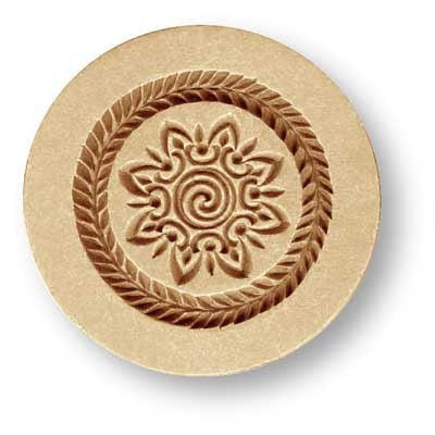 1676 Swirl Center Ornament Springerle Emporium Cookie Mold Anis Paradies