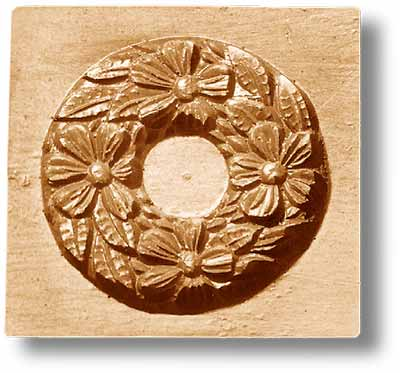 2016 Four Flowers Wreath Springerle Emporium Cookie Mold