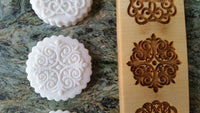 Multi-Image: Three Filigree Ornaments Springerle Cookie Mold