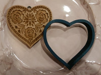 Lotus Springerle Emporium Heart Cookie cutter