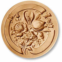 2093 Bouquet of Flowers and Ribbon Springerle Emporium Cookie Mold Anis Paradies