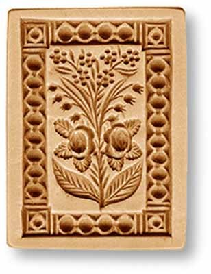 2199 Lily of the Valley Forget me Nots circa 1875 springerle emporium cookie mold