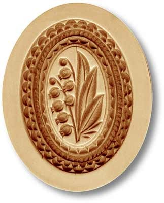 Lily of the Valley (May Bells) in Oval Springerle Cookie Mold by Anis-Paradies