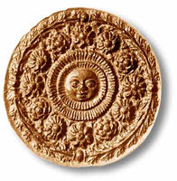 Sun With Flowers Springerle Cookie Mold