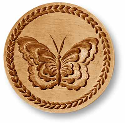 3206 butterfly large round springerle emporium cookie mold anis paradies