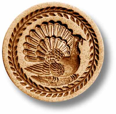 Turkey Round Springerle Emporium Cookie Mold by Anis-Paradies