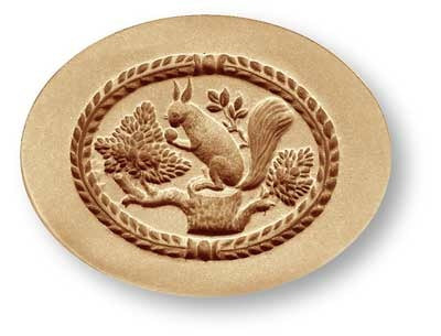 squirrel in oval springerle emporium cookie mold