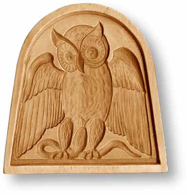 3415 Owl in a Bow Window Springerle Emporium Cookie Mold Anis Paradies