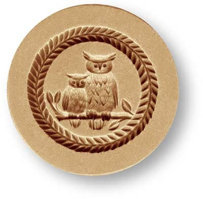 Owl with Young SPringerle Emporium Cookie Mold Anis Paradies