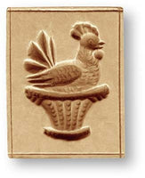 3462 Rooster in Basket Springerle Emporium Cookie Mold Anis Paradies