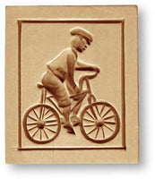 man on bicycle springerle emporium cookie mold swiss