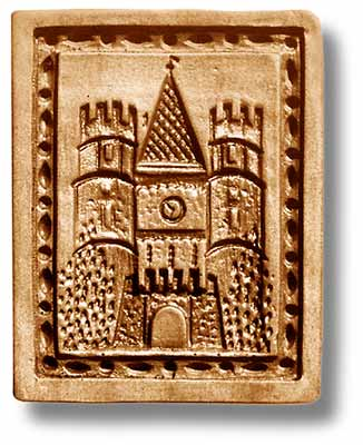 4648 Basel Spalentor with Clock, Large Springerle Emporium Cookie Mold Anis Paradies