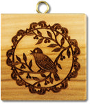 Bird on tree branch springerle cookie mold Springerle Emporium