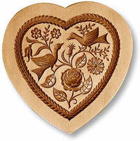Heart with Doves Springerle Emporium Cookie Mold Anis Paradies