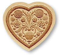 Heart with Flower Bouquet Springerle Cookie Mold by Anis-Paradies