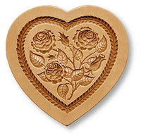 Heart With Three Roses Springerle Cookie Mold by Anis-Paradies