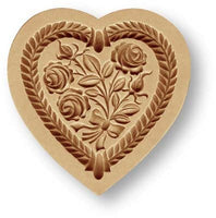 Heart with Rose Bouquet Springerle Cookie Mold by Anis-Paradies
