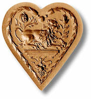 Lion in Heart Springerle Emporium Cookie Mold Anis Paradies