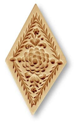 5307 diamond with flowers circa 1585 springerle emporium cookie mold anis paradies