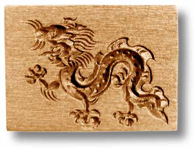 Asian Dragon Springerle Cookie Mold by Anis-Paradies