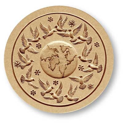 6394 World Peace Springerle Cookie Mold Emporium Anis Paradies