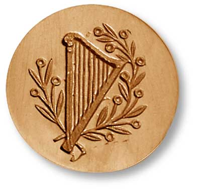 Harp Springerle Cookie Mold by Anis-Paradies