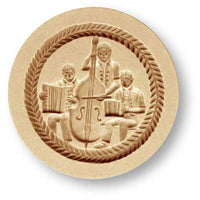 springerle cookie mold cello accordian players musicians