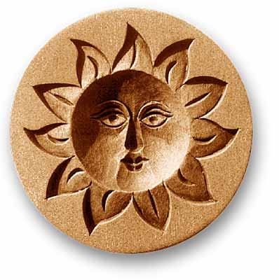 7200 Smiling Sun Face Springerle Emporium Cookie Mold