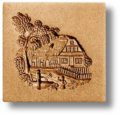 7652 Swiss Farmhouse Springerle Emporium Cookie Mold