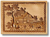 7653 swiss farm house and farm large springerle cookie mold emporium anis paradies