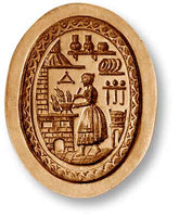 7702 Woman Cooking at the Stove Springerle Emporium Cookie Mold Anis Paradies