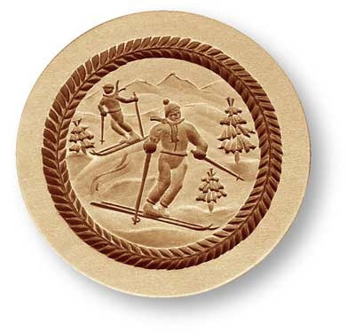 7709 Skiers on Mountain Springerle Emporium Cookie Mold Anis Paradies