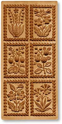 8902 springerle emporium multi image cookie mold flowers and garden fruits