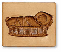 Baby in Cradle Springerle Cookie Mold
