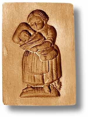 mother with child in her arms springerle cookie mold anis paradies emporium