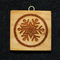 Snowflake, Classic Springerle Cookie Mold by Art Und Delikat