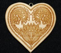 Heart with German Folk Art Flowers Springerle Cookie Mold