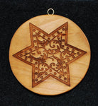 Vine and Foliage Swag Star within a Star Springerle Cookie Mold