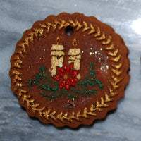 Candlelight Christmas Springerle Cookie Mold