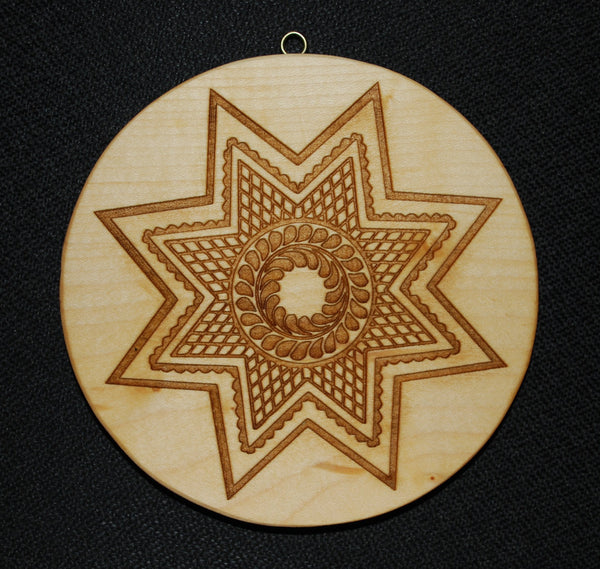 Diamond 8 Point Star Springerle Cookie Mold