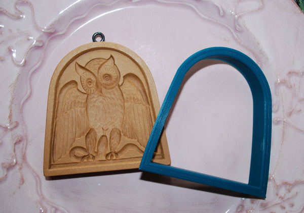 Cookie Cutter for Owl in Bow Window Mold 3415