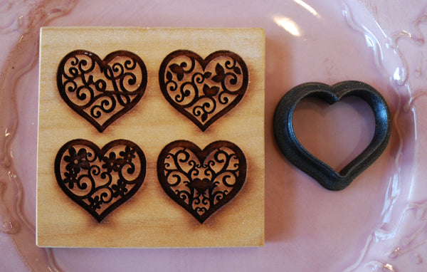 springerle emporium cookie cutter for four hearts mold